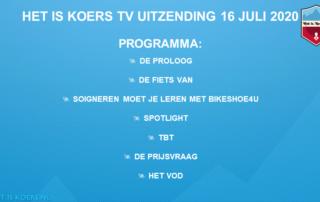 HiK TV programma 16 juli 2020
